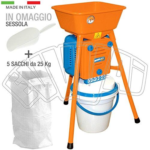 MOLINO ELÉCTRICA DAVIDE 4V adecuado para los cereales y el maíz