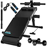 IRIS 30 in 1 Adjustable Sit Up AB Bench, Foldable Decline Bench