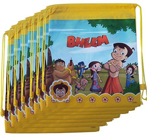 12 Pcs Chhota Bheem Dori Bag Sack For Birthday Return Gifts Kids ChhotaBheme Theme