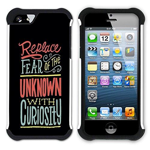 Graphic4You Grids Are Fun Englisch Zitat Nachricht Hart + Weiche Kratzfeste Hülle Case Schale Tasche Schutzhülle für Apple iPhone SE / 5 / 5S Design #3