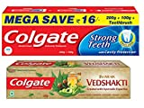 #10: Colgate Swarna Vedshakti - 200 g and Strong Teeth Toothpaste - 300 g with Free Toothbrush