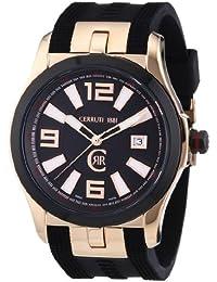 Cerruti 1881 Herren-Armbanduhr XL Analog Quarz Kautschuk CRA061D222C