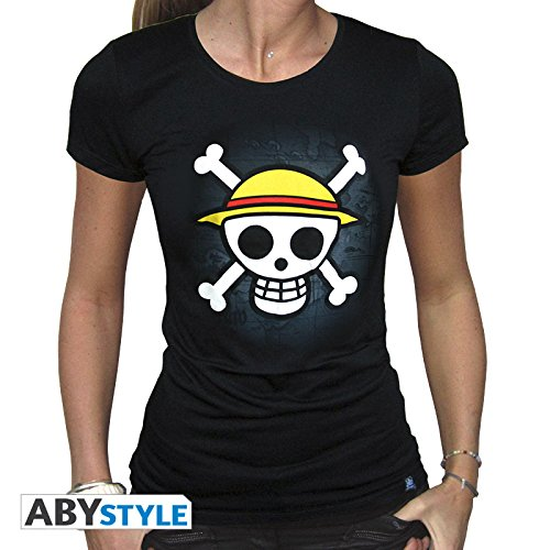 ABYstyle - One Piece - Skull with Map Tshirt for Women Black (XL)