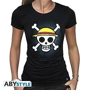 ABYstyle - Camiseta para Mujer (Talla M), diseño de Calavera con Mapa