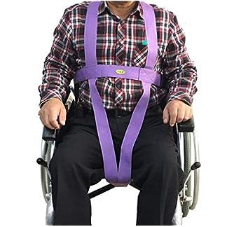 51oxkJ6cTWL. SS324  - SXTYRL cinturón de Seguridad para Silla de Ruedas Correa Cinturón de sujeción Abdominal con Hebilla automática Ajustable hasta 140 cm de Cintura para Ancianos discapacitados discapacitados