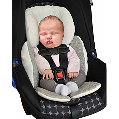 Vine Bebé Acolchado,Protector de cuerpo para coche,Colchoneta reversible para silla de paseo universal para bebés,Funda reversible silla de coche