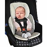 Vine Baby Sitzauflage Baby im Auto Kinderwagen Sitzauflagen für Kinderwagen ,Universal Kinderwagen Sitzkissen Baby Sitzauflage Baumwolle Autokindersitz(Grau)