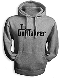 net-shirts Golffahrer Hoodie Kapuzenpullover Auto Tuning Wolfsburg Golf , Größe XL, grau