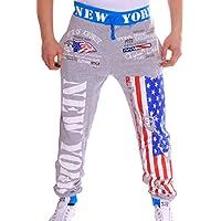Da uomo Pantaloni da allenamento | FLAG Set: Sport Pantaloni e Giacca con cappuccio | 100% cotone tuta jogging | Germania EM WM | Germany & New York