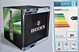 Husky HUS-CC 200 Coolcube Cool Cube Flaschenkühlschrank Becks / A+ / 51 cm Höhe / 84 kWh/Jahr / 50 L Kühlteil inkl. Reinigungstuch