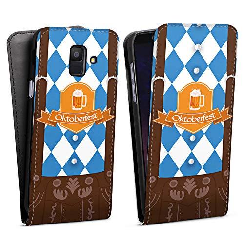 DeinDesign Flip Case kompatibel mit Samsung Galaxy A6 (2018) Tasche Hülle Oktoberfest Lederhose München
