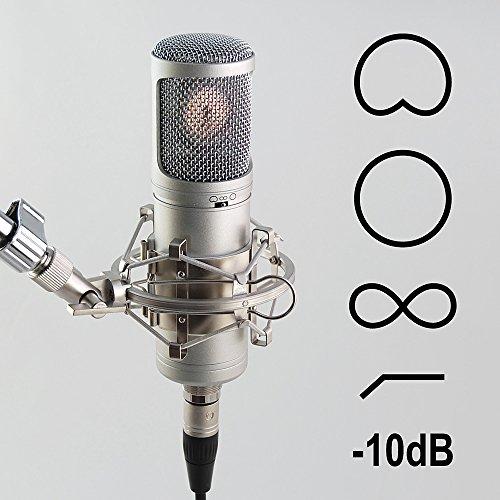 MC-700 + Spinne Studio Doppelmembran Kondensator Mikrofon schaltbar Richtcharakteristik Nierecharakteristik Kugelcharakteristik Achtercharakteristik Gesang Vokal (Stromversorgung 700)