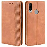 HualuBro Wiko View 3 Lite Case, Retro PU Leather Wallet
