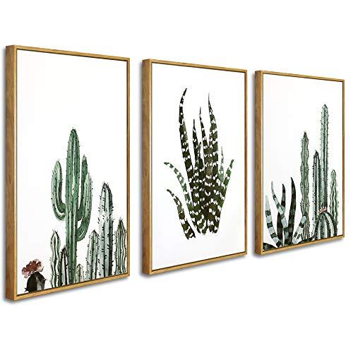 Star Cluster Kunstdruck mit Rahmen - Bild auf Leinwand für Wanddekoration - 40 x 60 cm - Leinwanddruck, Leinwandbild, Kunstdruck auf Leinwand, Wandbild (Set_PflanzenA)