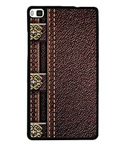 PrintVisa Designer Back Case Cover for Huawei P8 (Texture Illustration Theme Brown Backcase Pouch )