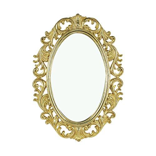 Art Deco Home - Espejo Pared Barroco Dorado 48x34 cm - 12795SG