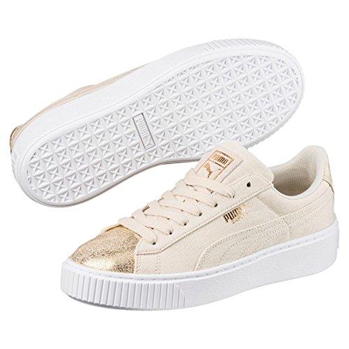 Puma Sneakers Basket Platform Canvas Wn's Gold 366494-01 - 40, Oro