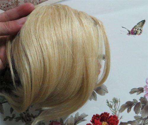 20,3 cm couleur : Blond Cendre (# 24) cheveux humains véritables cheveux Fashion avant Neat Bang franges One cheveux