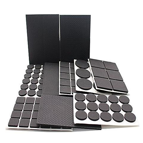 Rey leicht reduzierten rutschfeste Möbel Gummi-Pads, große Pack der 186PCS und verschiedene Größen, Schwere adhesive-best (Feltrini Per Mobili)
