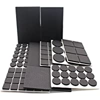 REY Lightweight Reduced Non Slip Furniture Feet Pads, Large Pack of 186 PCs and Assorted Sizes, Heavy Duty Adhesive-Best Chair Leg Covers and Tiled, Laminate, Hardwood Flooring Protectors