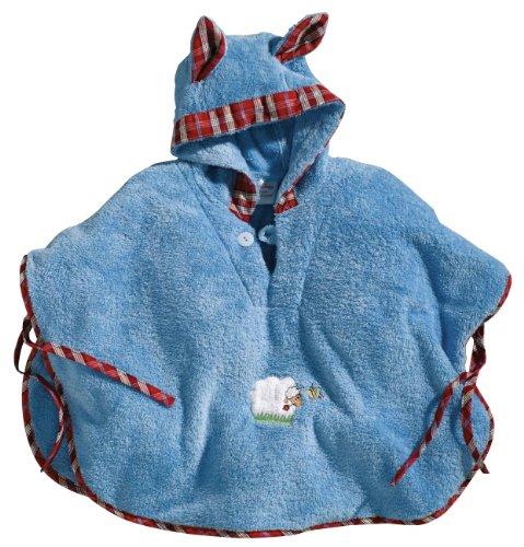 Morgenstern, Badeponcho, 1-3 Jahre (one size), Farbe blau, Sleepy Sheepy, aus super soft Microfaser