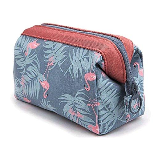 Samtaiker Kosmetiktaschen, große tragbare Reise Kosmetik Make-up Tool Bag Aufbewahrungstasche für Frauen (Hats Flamingo)