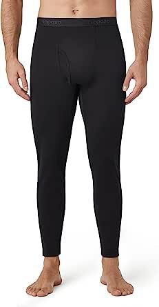 LAPASA Men's Thermal Underwear Bottoms, Fleece Lined Long Johns Leggings Light/Mid/Heavy Weight 1 & 2 Packs (Thermoflux M10 M56 M25)