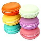 Shop Story–Pack 6Aufbewahrungsboxen Pillenbox in Form von Macaron für die Kleinen Schmuck, Karte SD Sim, der Pillen Oder die kleine Geheimnisse