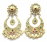 Jewelshingar Jewellery Polki & Kundan Dangle Ohrringe für Frauen, 37204-dce-multi earings