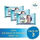 Kara Cucumber & Grape Seed Eye Make-up Removal Wipes, 30 Count