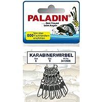 PALADIN KARABINER-WIRBEL BIG BAG Größe 6 bis 16 GUNSMOKE reflexfrei !!!
