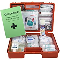 Erste-Hilfe-Koffer M4+ für Betriebe Din/EN 13157 inkl. Hände-Antisept-Spray, Sprühpflaster & Verbandbuch preisvergleich bei billige-tabletten.eu
