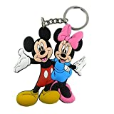 #4: GCT Walt Disney Mickey Mouse & Minnie Mouse Animal Cartoon Character Synthetic / Rubber Keychain / Keyring / Key Ring / Key Chain