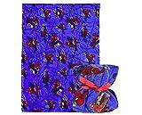 Marvel | Spiderman | Couverture Bleue Imprimée Spiderman Haut De Gamme Exclusive | Lit Ou Canapé | Couverture Moelleuse en Molleton Doux Et Haud | Voyage Ou à La Maison | 120 x 160CM |...