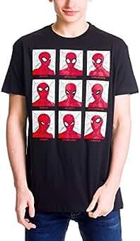 Spider-Man Hombre Araña para Hombre de La Camiseta de Algodón Negro de emociones Elbenwald 5HWAdW624M