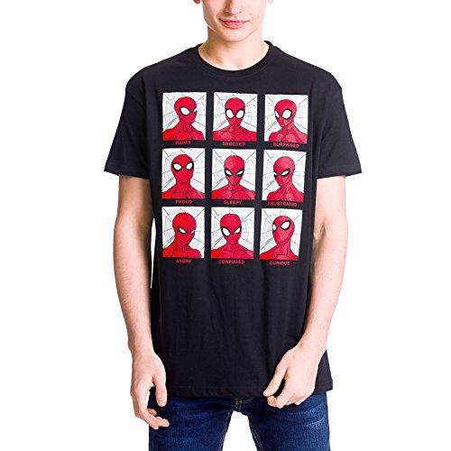 Spider-Man T-Shirt Emotions T-Shirt von Elbenwald Baumwolle schwarz Schwarz