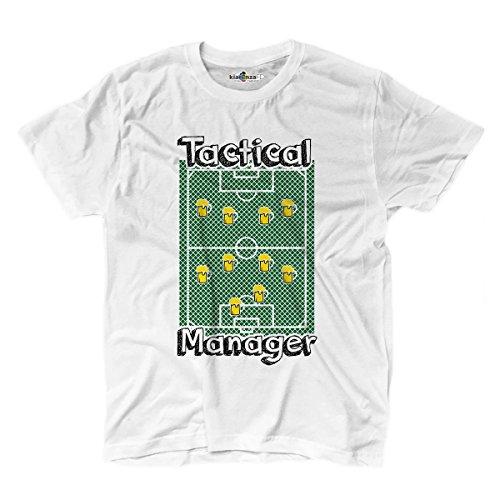 T-Shirt Uomo Calcio Divertente Fashion Creazione Moda Mister Tattica Birra 2