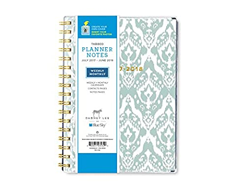 Dabney Lee for Blue Sky 2017-2018 Academic Year Weekly & Monthly Planner with Notes, Twin-Wire Bound, 5.8