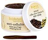 BodyHerbals Anti Cellulite Body Scrub, Natural Coffee Olive Vitamin- E Beauty, Bath & Body, Boody Scrubs (125g) - No Sulphates No Parabens