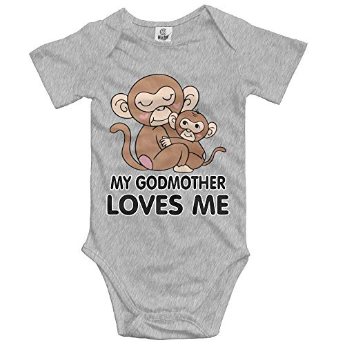 Kostüm Haut Creeper - dsfsa Babybekleidung My Godmother Loves Me Monkeys Toddler Bodysuit Onesie Novelty Creeper Shower Gift