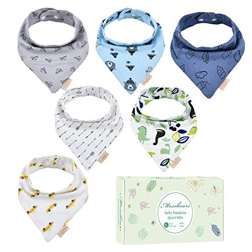 Baby Dreieckstuch Lätzchen 100% Baumwolle mit verstellbaren Schnallen für Babys