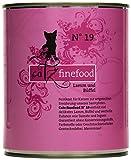 Catz finefood Katzenfutter No.19 Lamm & Büffel 800g, 6er Pack (6 x 800 g)