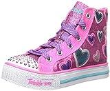 Skechers Twinkle toes Shuffles STARLET POSE, pink/türkis mit Sternen und blinkenden Steinchen (27,5)