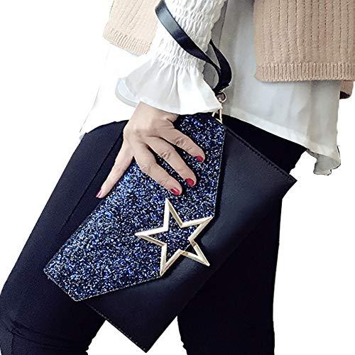 Alaix borsa da donna con frizione formale da sera con borsa a tracolla con catena a tracolla da polso nero