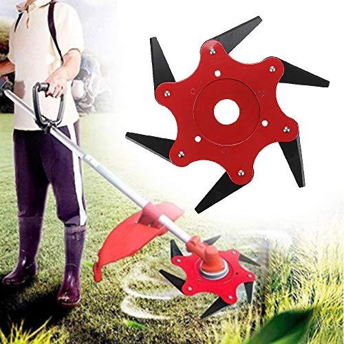 Boomway Trimmerkopf 6 Stahlklingen Rasierer 65 Mn Trimmerklinge Ersatz für Garten Grasbürste Cutter Unkrautfresser Rasenmäher -