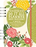 Bold Blossoms Do It All 17 Months Planner 2016