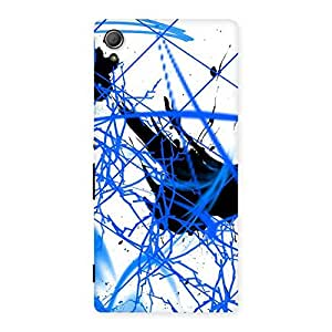 Enticing Blue Splasher Print Back Case Cover for Xperia Z3 Plus