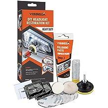 Visbella Kit de Restauración de Lente de Faros del Coche Kit de Herramienta de Protección de