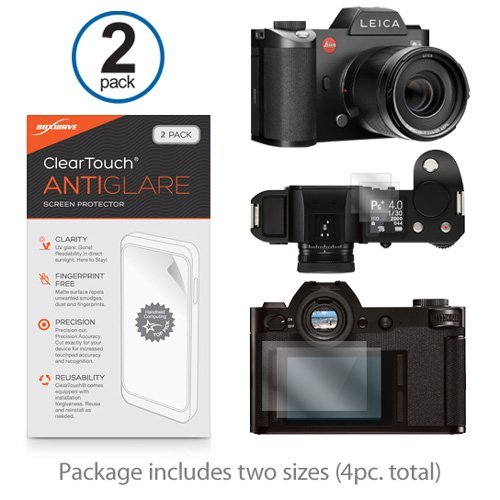 Leica SL (typ-601) Protector de pantalla, BoxWave® [ClearTouch Anti-brillos (2-Pack)] antihuellas mate película piel Para Leica SL (typ-601)