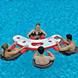 Jilong Fashio Pool Bar Set mit 4x Schwimmsessel Poolsessel Poolnudel